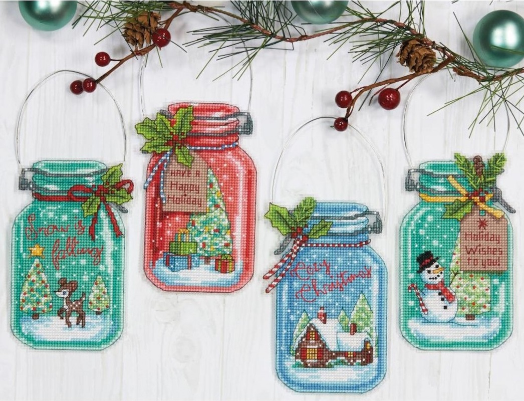 Christmas Jar Ornaments  (70-08964)