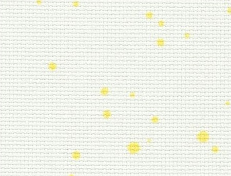 Audinys Zweigart Aida (18ct). Sp. Yellow Splash (1349), 48x53 cm
