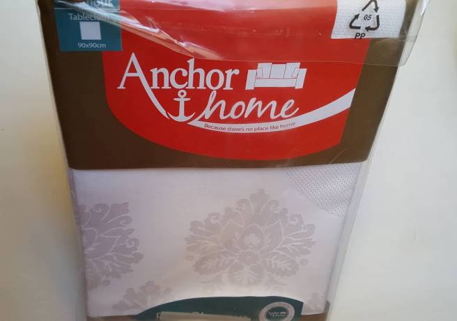 "Anchor Home ""Pure Glamour"" staltiesė, balta, 90x90cm"