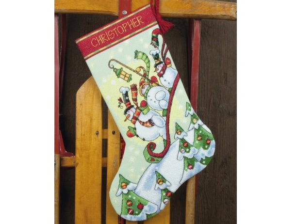 "Kojinė ""Sledding Snowmen Stocking"" (8853)"