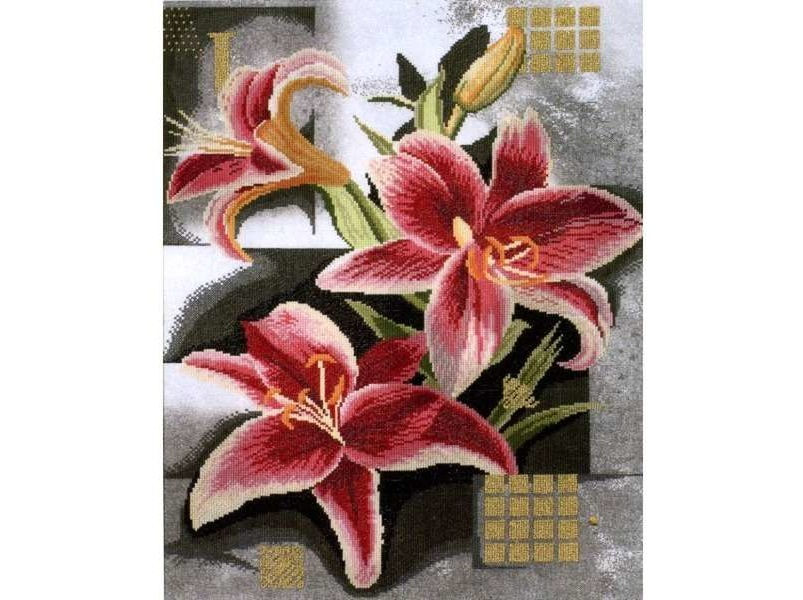 Lanarte 35089 Composition of Pink Lilies