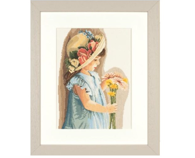 Lanarte 35122 Girl with Flowered Hat